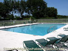 The swimming pool at Stonebridge on Palmer Ranch in Sarasota, FL.
